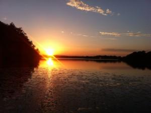 Solnedgang ved Sorø Sø